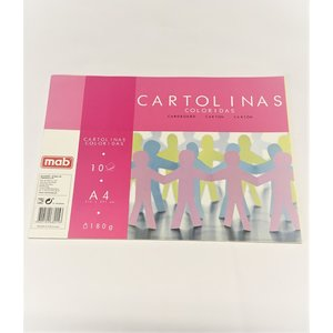 BLOCO DE CARTOLINAS A4 - 10 FLS